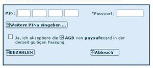 PIN Code eingeben